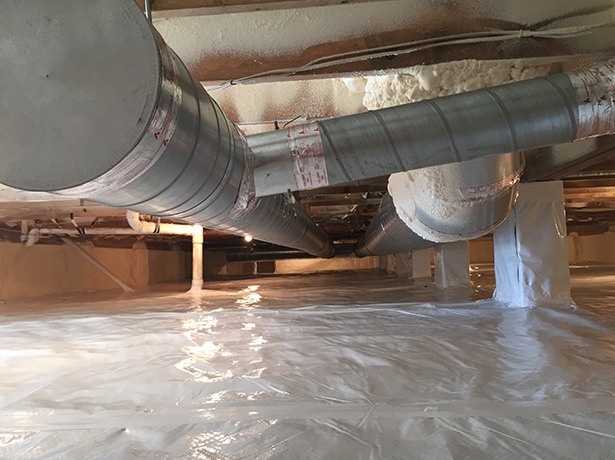Crawl Space Duct : Norris mechanical crawl spaces duct service