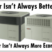 With HVAC systems, bigger isn't always better and smaller isn't always more economical