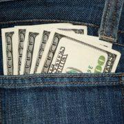 Cash in a back pocket